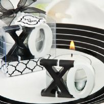 Black & White X And O Candle Favours